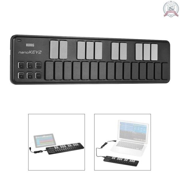 [Ready] KORG nanoKEY2 Slim-Line Portable USB MIDI Keyboard Controller 25 Keys with USB Cable Malaysia