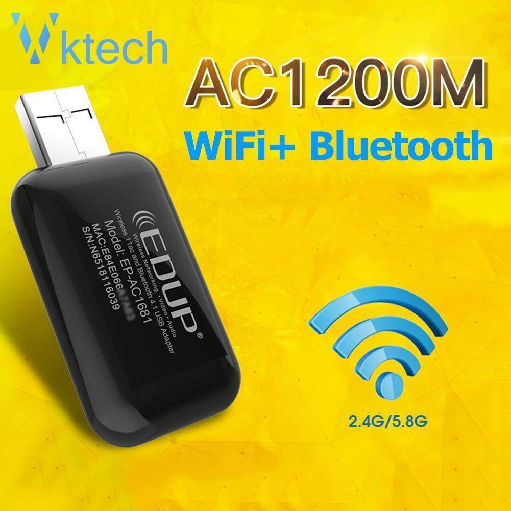 [Vktech] 1200Mbps USB WiFi Adapter Dongle 2 4/5 8GHz Dual Band Network Card  Wireless Ethernet Receiver