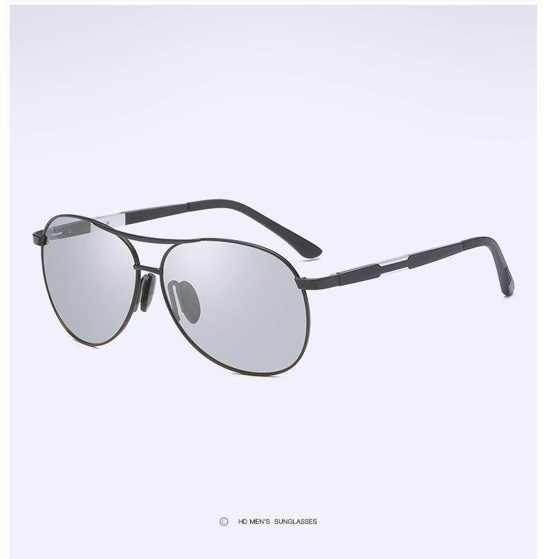 ... Fashion Pria Fotosensitif Warna Berubah Otomatis Kacamata Hitam Terpolarisasi Kacamata Hitam Pengendara Driver Mengemudi Cermin Katak ...