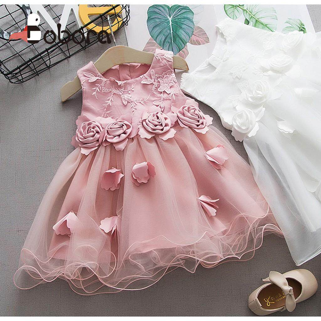 c41a3855a5299 Product details of BOBORA Children Summer Sleeveless Girls Cute Sweet  Multi-layer Mesh Lace Stitching Print Fairy Cotton Vest Dress