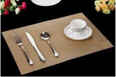 10pcs Set Eu Style Table Placemats Pvc Waterproof Dining Table Kitchen (gold) By Crc Mall.