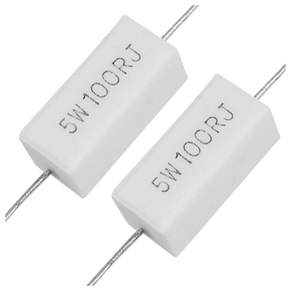10x Wirewound Ceramic Cement Resistors 100 Ohm 5W Watt 5% (Intl) - Intl