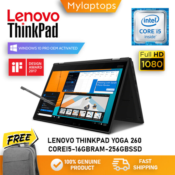 LENOVO THINKPAD YOGA 260 [CORE i5-6300U / 16GB RAM / 256GB SSD] PREMIUM BUSINESS CONVERTIBLE / FULL HD IPS DISPLAY / WINDOWS 10 PRO Malaysia
