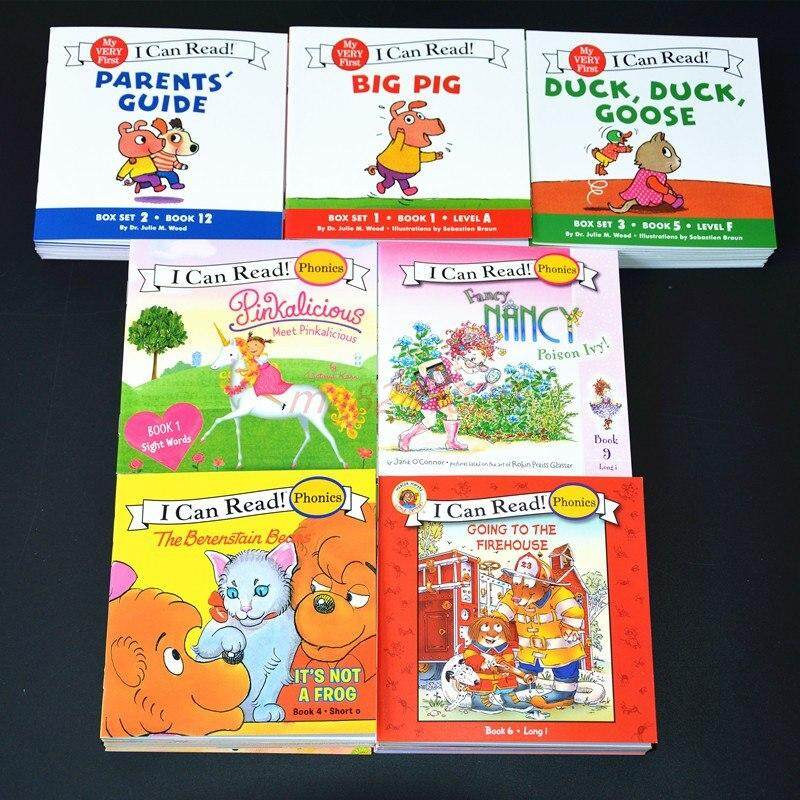 I Can Read 84 English Story Picture Books Phonics Book Illustrated Cartoon Leaning Reading Baby Cognitive Pocket Books For Kids Children Gifts By Twins Girl.