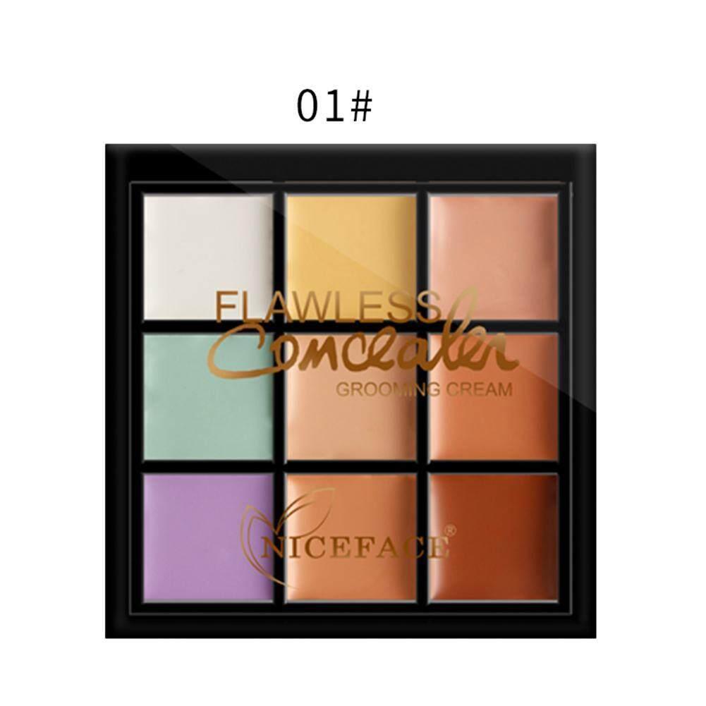 NICEFACE 9 Màu Che Khuyết Điểm Mặt Ngụy Trang Điểm Tàn Nhang Bao Da Trang Điểm Bảng Màu