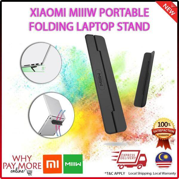 Xiaomi MIIIW Laptop Stand Holder Mount Portable Mini Folding Laptop desk Office Ergonomic Notebook Stand For 12.13inch Malaysia