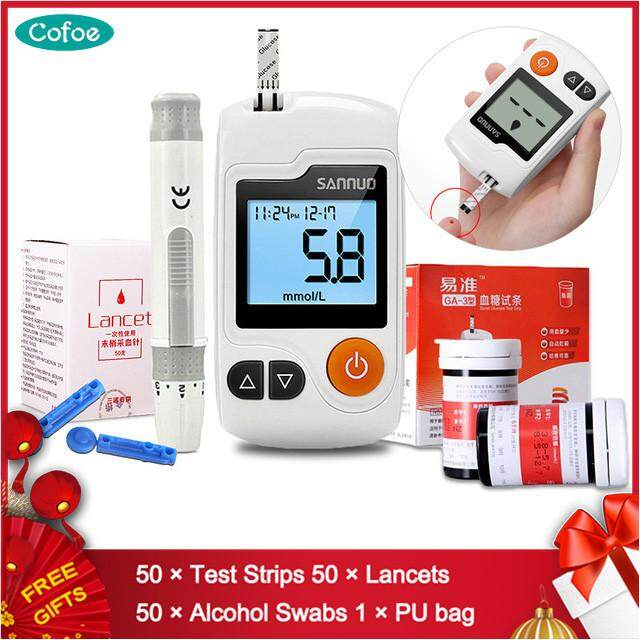 Yizhun Ga-3 Blood Glucose Meter Sugar Tester With 50pcs Test Strips Free 50pcs Lancet Needles And 50pcs Alcohol Swabs Diabetes Glucometer Set/blood Sugar Test Kit By Cofoe Official Store.