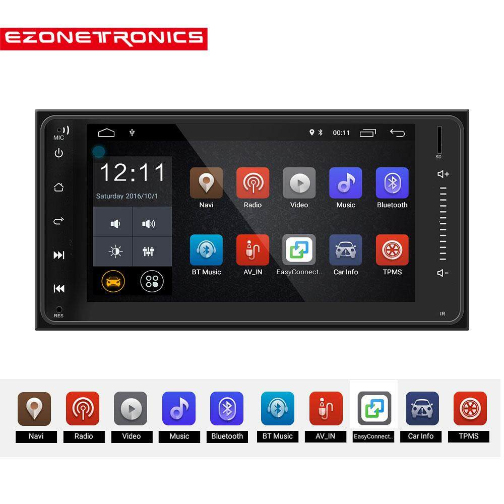 Ezonetronics Android Car Radio Stereo 7 Inch Capacitive Touch Screen High Definition 1024x600 Gps Navigation Bluetooth For Toyota Universal Hilux Fortuner Innova Old Camry Corolla Vios Rav4 Previa Hiace Alphad Fj Cruiser Avanza By Ezonetronics Store.