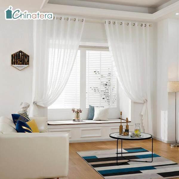 [Chinatera] 1 Chiếc Rèm Vải Tuyn Màu Trơn In Kim Cương Phong Cách Bắc Âu Hiện Đại Rèm Sợi Cửa Sổ Xuyên Thấu Để Trang Trí Phòng Ngủ Phòng Khách