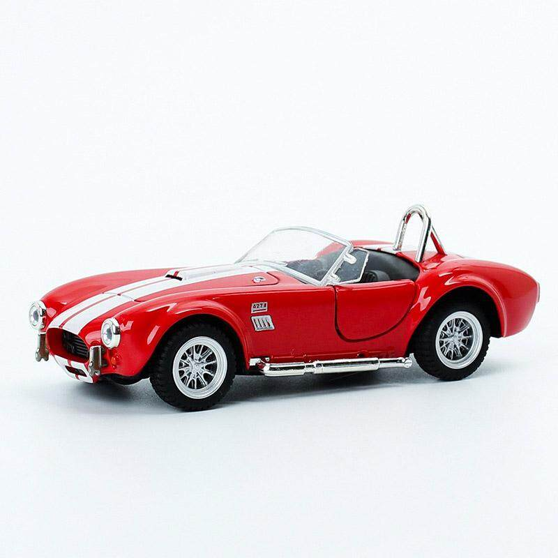 Ford 1965 Shelby Cobra 1:32 Model Cars Toys Open two doors Yellow Alloy Diecast