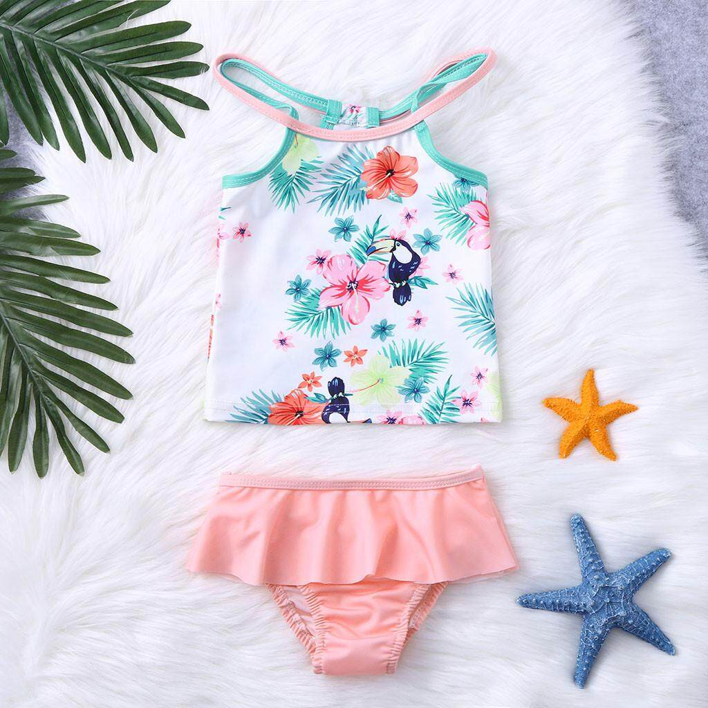 e49c5eb1b2e3d Lazadacarell Summer Kids Baby Girls Vest Floral Print Swimwear Swimsuit  Bikini Outfits