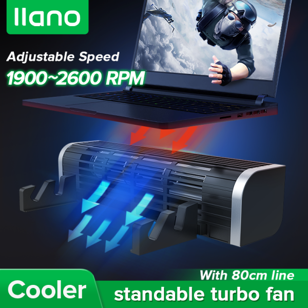 llano Turbine Cooling Fan with Adjustable Size and Wind Speed for Laptop,Ipad and Phone