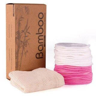 Mặt Làm Sạch Khăn Lau, 20 Miếng Bông Tẩy Trang Bằng Cotton Tái Sử Dụng Được Miếng Bông Tẩy Trang Bằng Cotton Tre Thân Thiện Với Môi Trường thumbnail