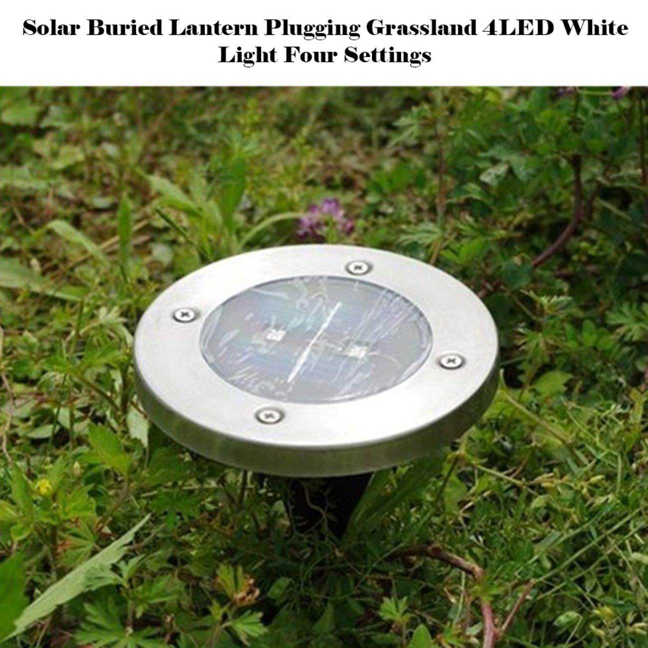 Hot Deals Solar Underground Light 8Led Stainless Steel Outdoors Ground Grass Light