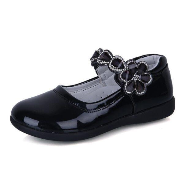 Hot Mùa Xuân Rhinestone Lớn Cô Gái Giày với Hoa Thời Trang Công Chúa Chống Trượt-on Trẻ Em Giày Phẳng cho Cô Gái Giày Kích Thước 26-38 giá rẻ