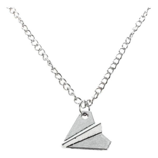Fashion One Direction Harry Styles Paper Airplane Necklace (Silver)