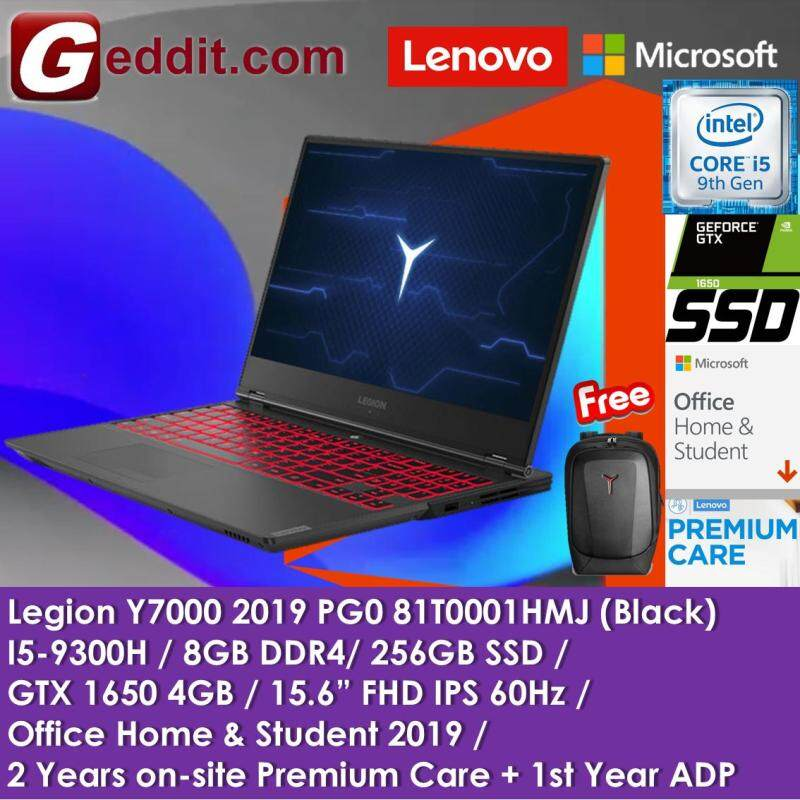 LENOVO LEGION Y7000 81T0001HMJ / 81T0003FMJ ( i5-9300H,8GB,256GB SSD,15.6  FHD,GTX 1650 4GB,WIN10,PREINSTALL H&S) FREE LENOVO Y GAMING BACKPACK Malaysia