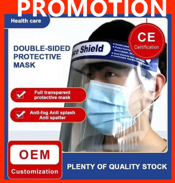 ~Ship From KL~ Safety Face Eyes Protector Full Face Masks Baffle Block Face Shield Protective Cover Anti Splash Dust-proof Transparent Masks