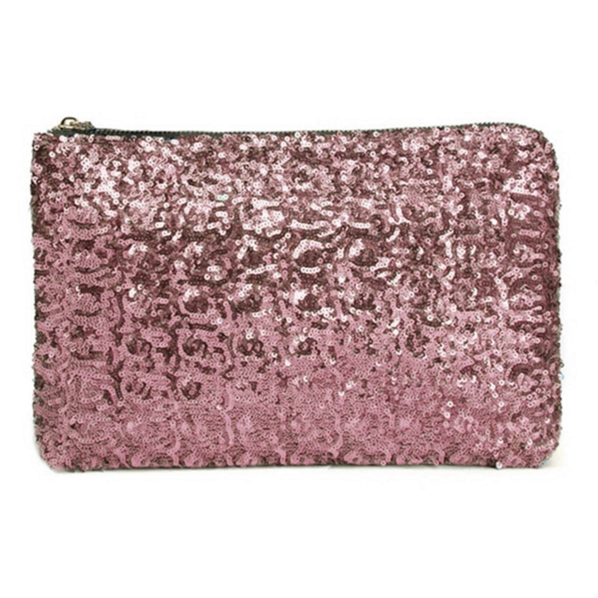 f8203afe9118 TEEMI Sequins Metallic Glitter Clutch Evening Dinner Purse Women HandBag  Dazzling Sparkling Party Bag - Pink
