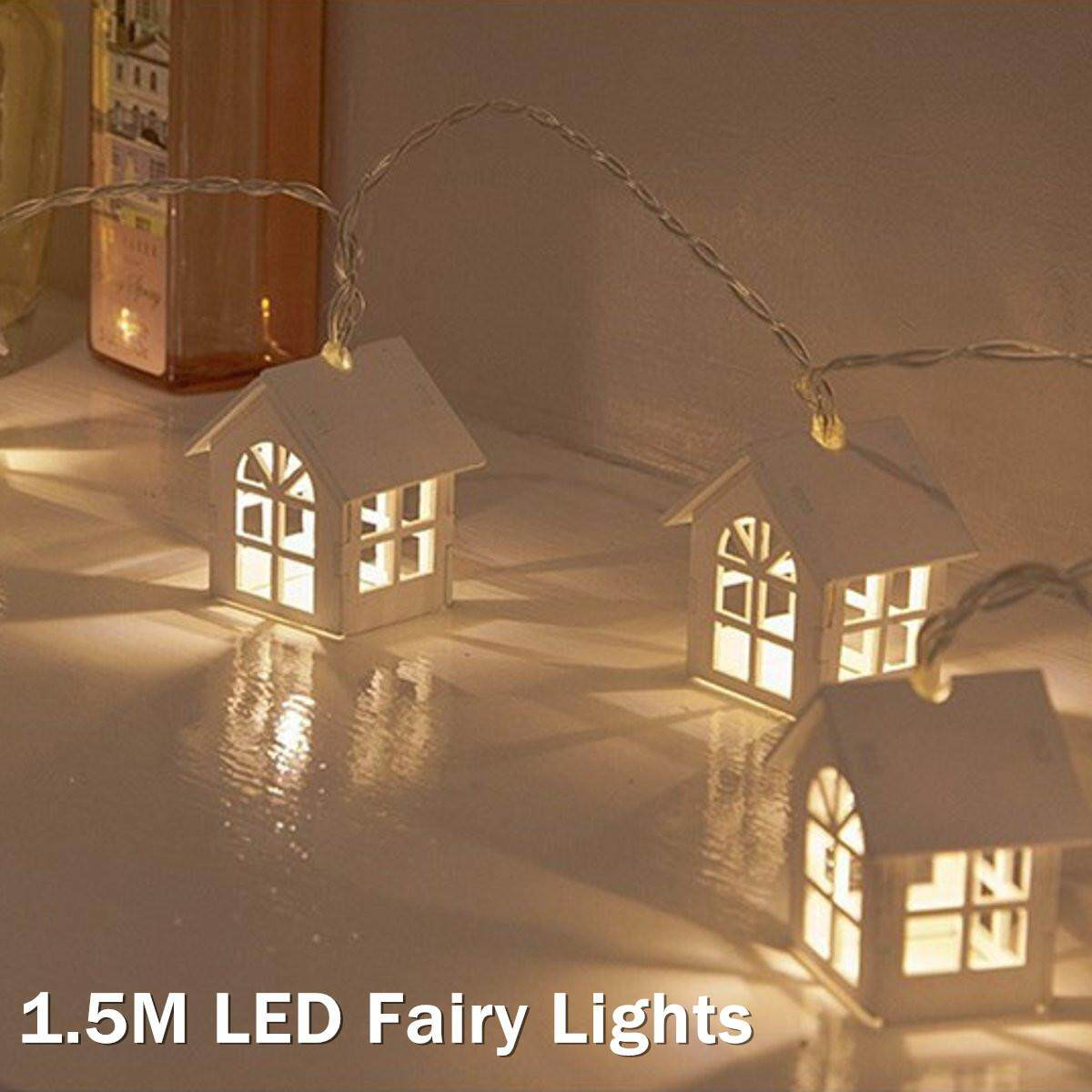 1.5m LED Fairy Lights House Shape String Lamp Wedding Party Festival Home Decor