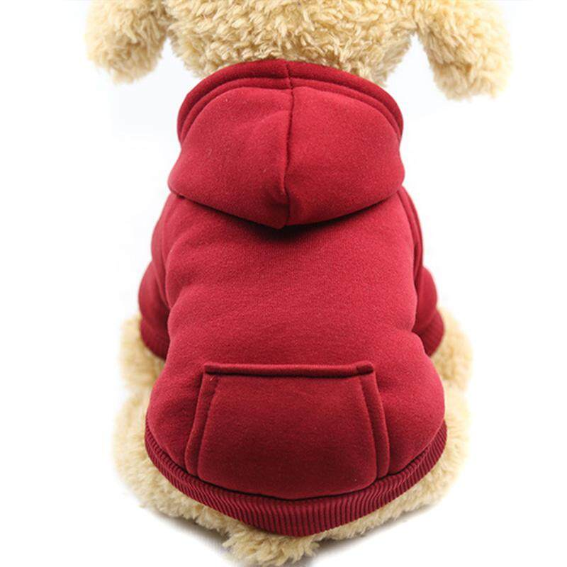 Buytra Dog Hoodies Pet Clothes For Dogs Coat Jackets Cotton Dog Clothes Puppy Costume Red S.