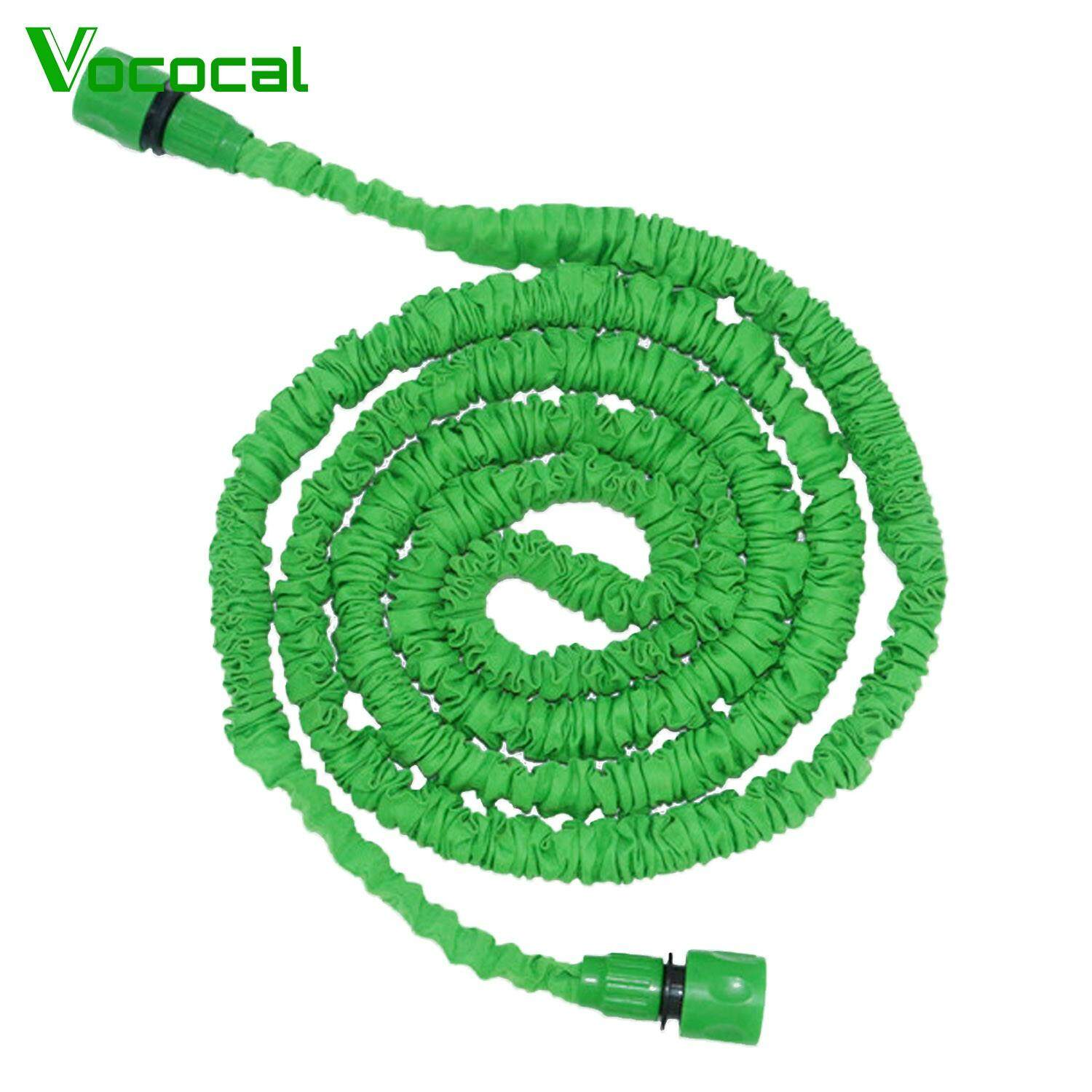 【Free shipping】Vococal 100ft Expandable High Pressure Garden Water Sprayer Hose with 2PCS Connectors for Washing Windows Floor Car Watering Flowers Vegetables Green