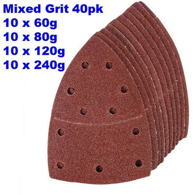 (ook& Loop 40pcs/Set Sanding Sheets Sander papers 60 80 120 240 Grit Aluminium Oxide 140mm*100mm