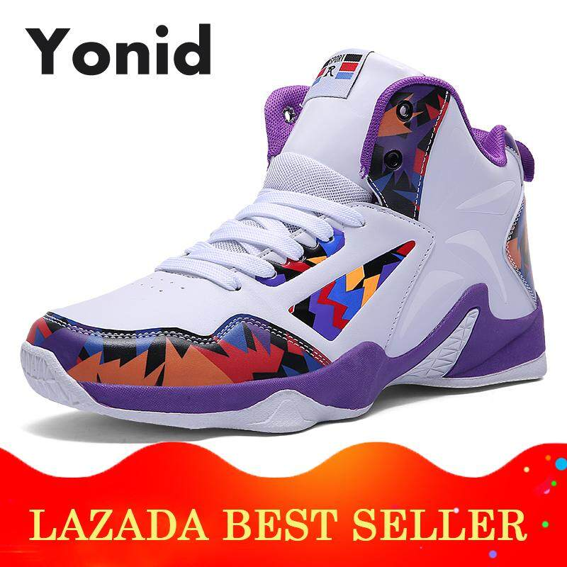 f6b492b0bea9 Yonid Men s Size 35-46 High-top Basketball Shoes for Men Outdoor Sport Shoes