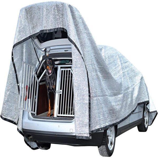 Aluminium ShadeNetfor Dogs 600 x 400 cm AluminiumSun ProtectionNet80% UV and Heat ProtectionReduce the Heat forDogs,Car, Caravan, Tent, Boat, Camping, Garden