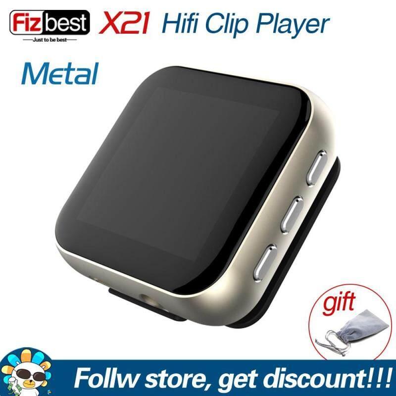 RUIZU X21 Metal Clip HiFi Music Player High Resolution Portable Audio Music Player Digital Lossless Sound MP3 Player with Voice Recorder FM Radio