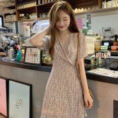 Váy ngắn dễ thương cho nữ cổ chữ V tay ngắn in họa tiết hoa nhí phong cách Bohemian giá ưu đãi – ღLovemygirl♡ – INTL