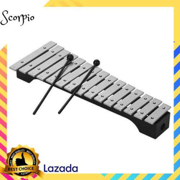BEST SELLER 15-Note Xylophone Glockenspiel Wooden Base Aluminum Bars with Mallets Percussion Musical Instrument Gift with Carrying Bag (Standard) Malaysia
