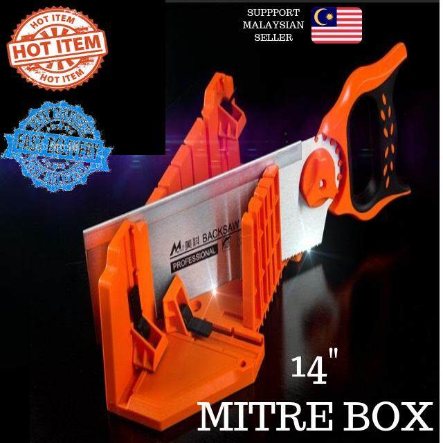 HOT ITEM 14 Mitre Box With 12 Back Saw Angle Saw Wainscoting Frame Canvas