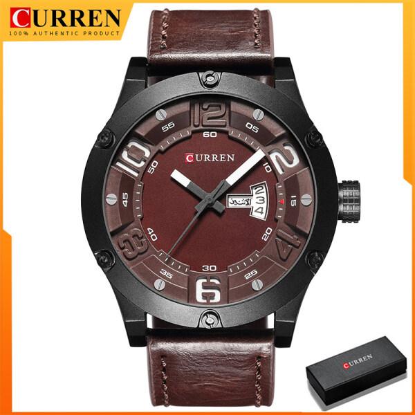 Curren Mens Watches Top Brand Luxury Formal Leather Quartz Watch Men Wristwatch Fashion Casual Sport Clock Watch 8251 Malaysia
