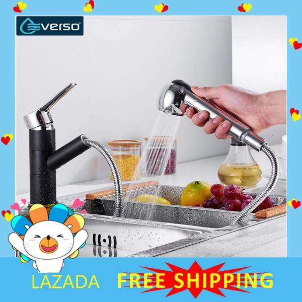 【Free Shipping】EVERSO  Kitchen Faucets Single Handle Pull Out Kitchen Tap Single Hole Handle Swivel  Water Mixer Tap Mixer Tap