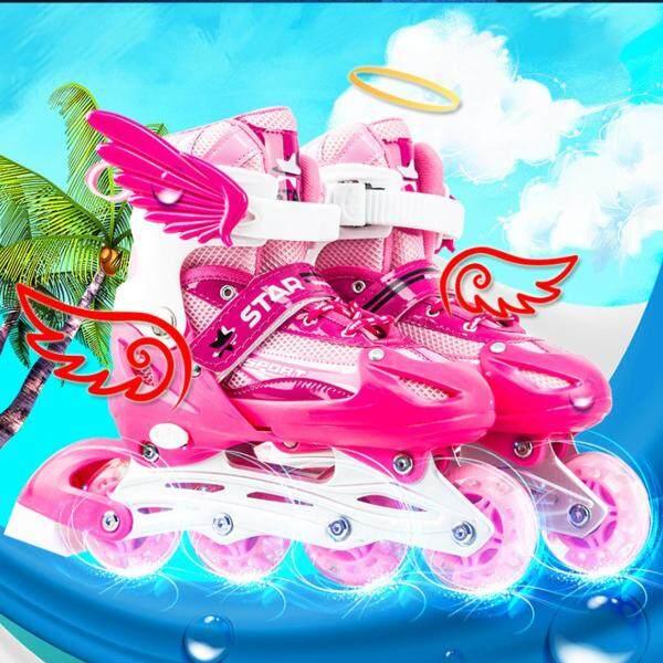 Mua Giày Trượt Patin Có Thể Điều Chỉnh Cho Bé Trai Bé Gái, Trượt Patin 4 Bánh -Màu Hồng S (26-32)