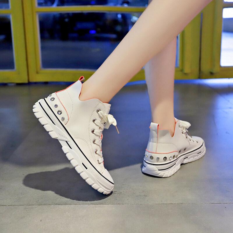 Giá Quá Tốt Để Có Trắng Nhỏ Giày Nam Nữ 2020 Da Chống Nước Nhỏ Trắng Giày Mùa Hè Ins Triều Giày Phiên Bản Hàn Quốc Thời Trang Hoang Dã Cao-TOP Nam Nữ Giày Đế Giày Vải