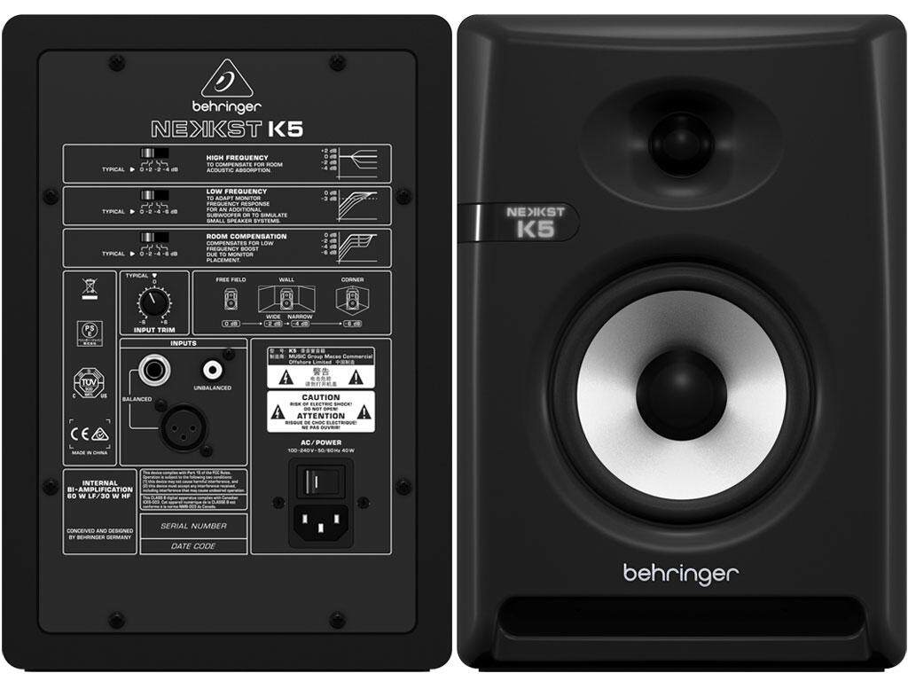 BEHRINGER K5 Audiophile Bi-Amped 5 150W Studio Monitor /Unit Malaysia