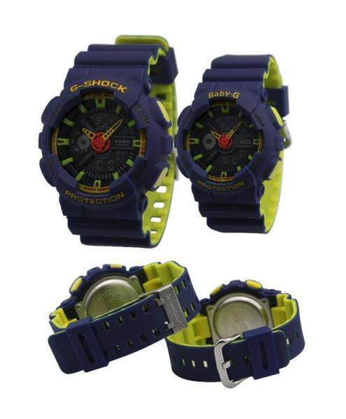 SPECIAL PROMOTION CASI0 G SHOCK_ DUAL TIME RUBBER STRAP WATCH SET FOR COUPLES Malaysia
