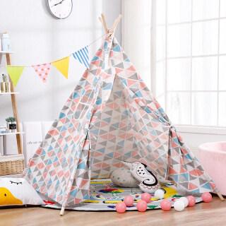 Lều Chơi Teepee Bằng Cotton Lớn Cho Trẻ Em Nhà Chơi, Ngủ Wigwam Trẻ Em Ngoài Trời thumbnail