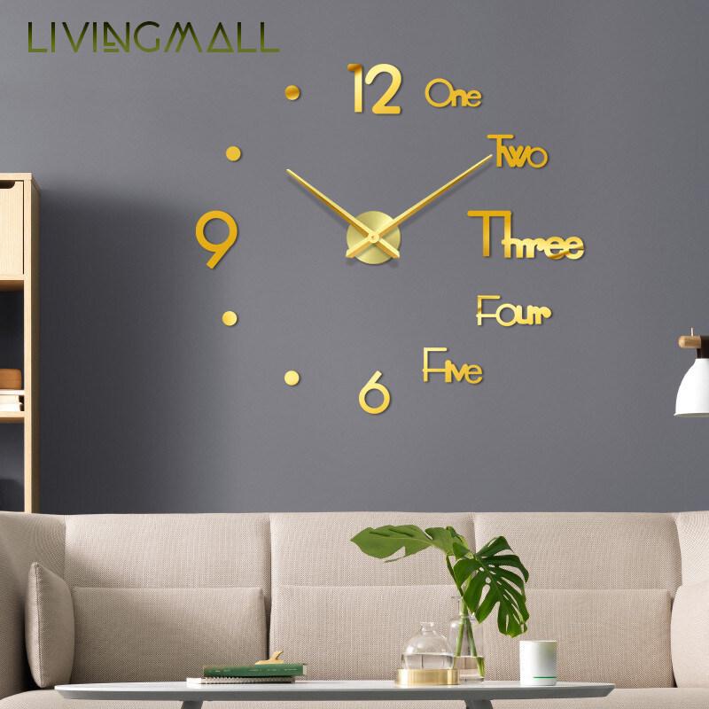 Nơi bán Livingmall Tự Làm Đồng Hồ Treo Tường Thiết Kế Hiện Đại Mute Acrylic Tự Dính Đồng Hồ Treo Tường Phòng Ngủ Phòng Khách Trang Trí Nội Thất