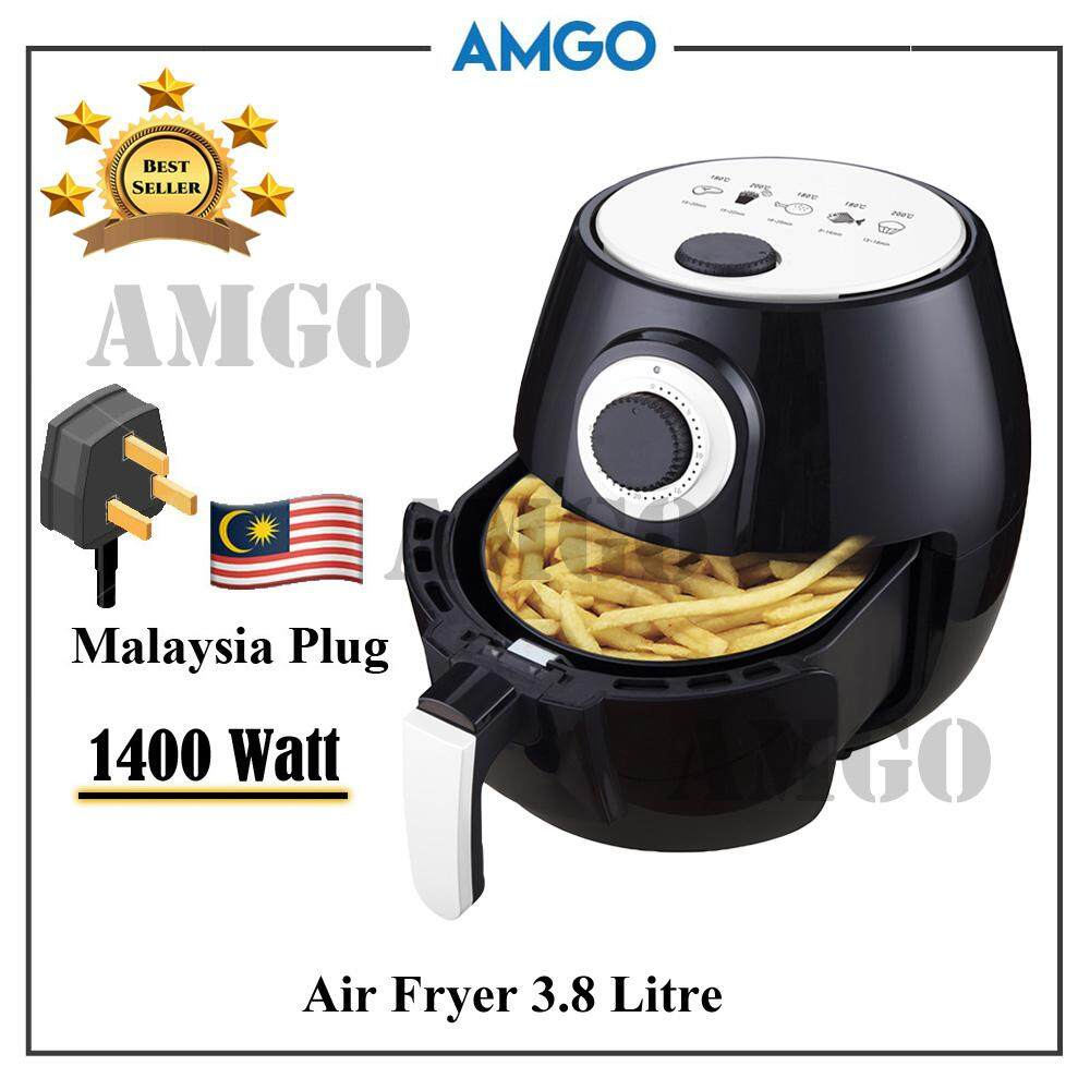 Amgo 3.8l Capacity Air Fryer [malaysia 3-Pin Plug] By Amgo Water Filter.