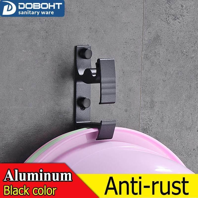 DOBOHT A1001101-5BL Decorative Aluminum Bathroom Kitchen Wall Basin Hooks Towel Hanger hanger,Metal, Towel,coat,Robe Hooks