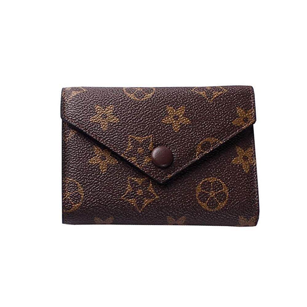 Ltplaza Bifold Wallets For Women, Pu Leather Short Cash Wallets With Buckle Vintage Ladies Pocket Purse Credit Card Holder Retro Clutch Wallet By Ltplaza.