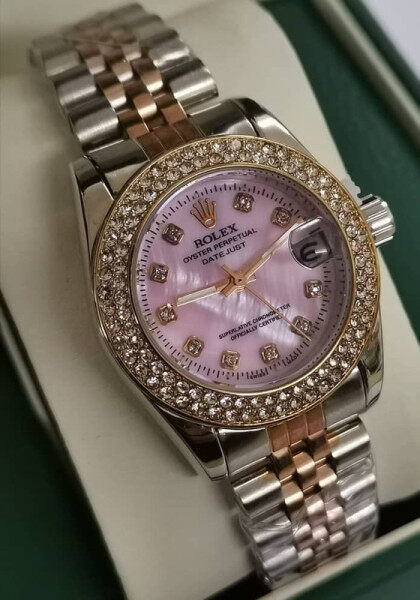ROLEX_Women Watch Unique Good Looking Design New Arrival Date Display Free Genuine Gift Box Malaysia