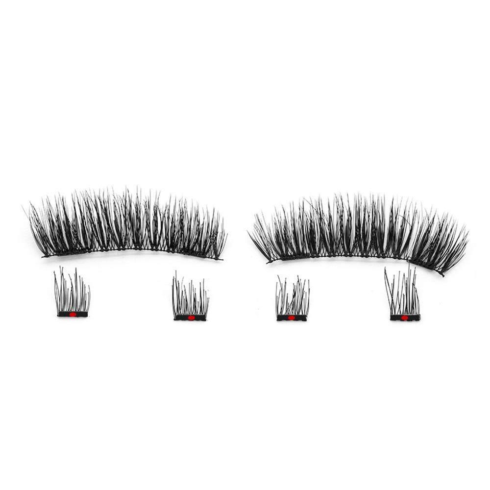 6Pcs Fashion Magnetic Eyelashes with 2 Magnets Handmade 3D Natural False Eyelashes with Tweezer & Gift Box Mirror tốt nhất