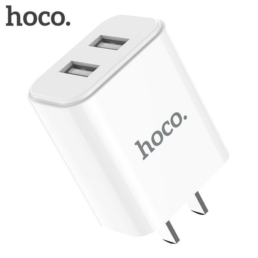 Hoco 5V2. 1A USB Sạc Hoa Treo Tường Di Động Adapter Sạc Điện Thoại Cho Iphone 11 X XS Max Du Lịch Sạc Nhanh Cho Máy samsung Xiaomi