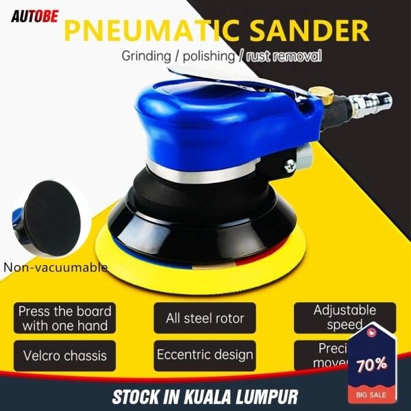 [stock in KL] 5 inch Car Polisher Air Sander Car Polisher Pneumatic Sander Random Orbital Rotary Sander car sander machine for car /wood