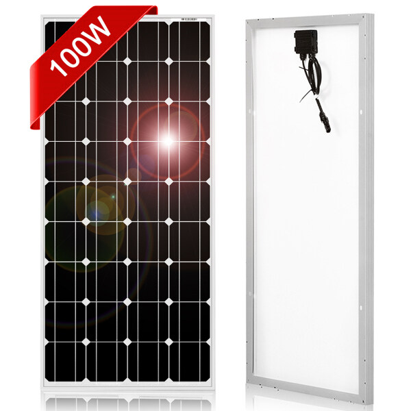 Dokio 100W Monocrystal Silicon Solar Panels China 18V 1012X660 Mm X 30 Mm Size Solar Panels Quality Solar Battery China