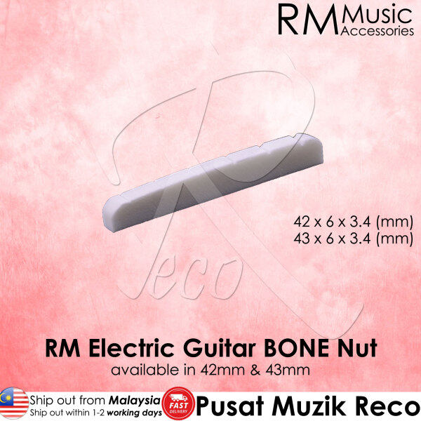 RM Electric Guitar BONE Nut Flat Bottom 42mm / 43mm 【Msia Seller READY STOCK!SHIP OUT FAST】 Malaysia